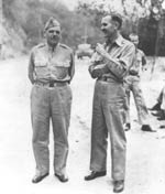 Ph00004086 - Brigadier General Edward P. King and unidentified officer on Corregidor, March 10, 1942