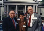 The James J. Halsema Collection - Here Halsema is seen at the MacArthur Memorial in 1994 with former