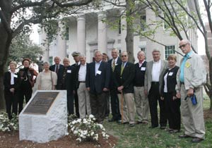 The Liberation Plaque Memorial was dedicated in MacArthur Square on April 1, 2006