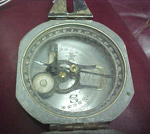 The Brunton Compass used by Lt. Col. Smith to guide his sailboat from the Philippine Island of Minda