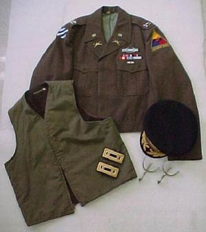 Col. George Taylor, U.S. Army, (Ret.) of Virginia Beach, Virginia, recently gave his uniforms from 2