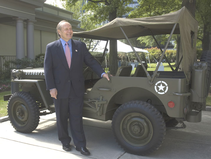 The restored Jeep will be exhibited in the new building