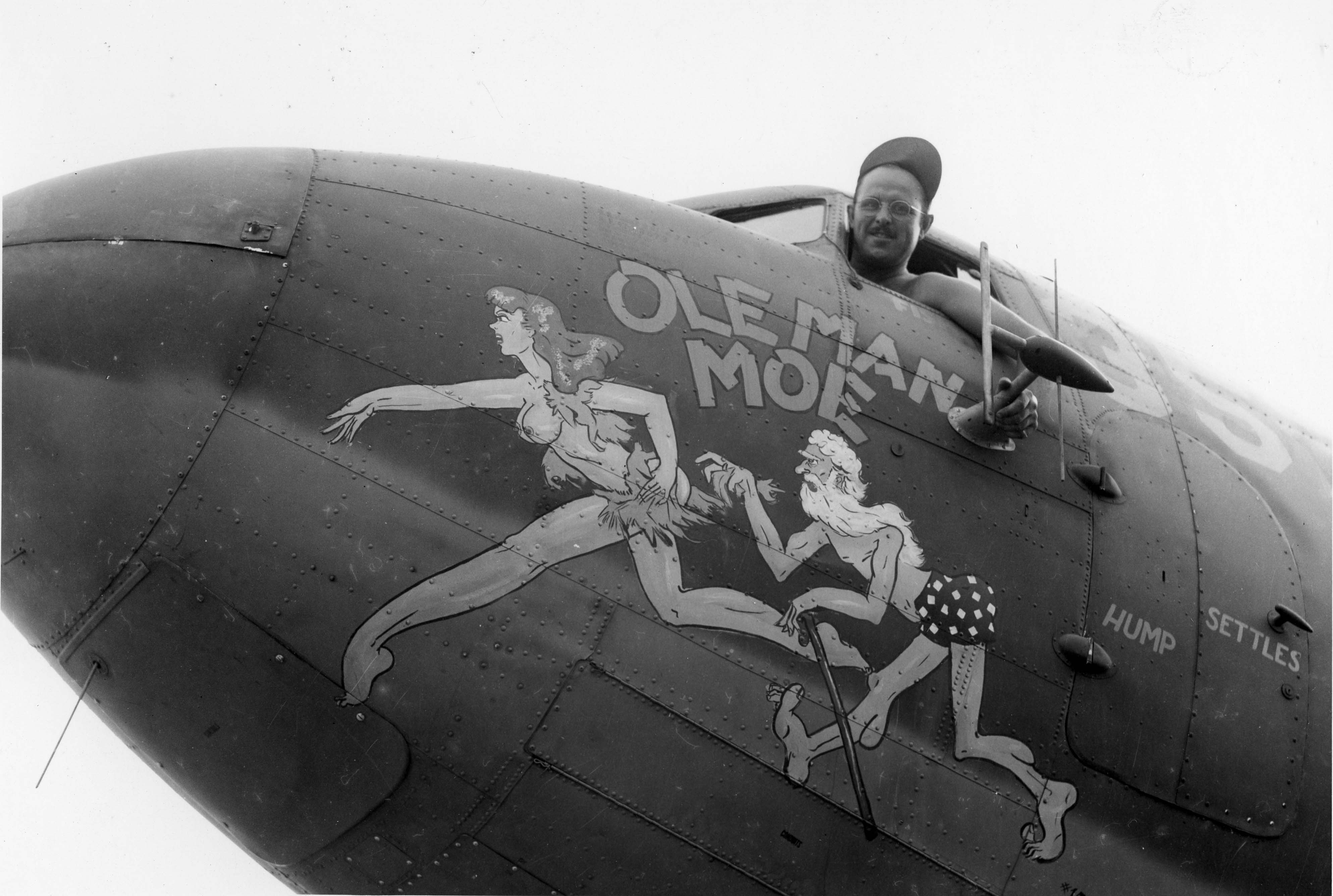 Ole Man Moe : C-47 : 455th Service Squadron : PH00005473 (Frederick German Collection)