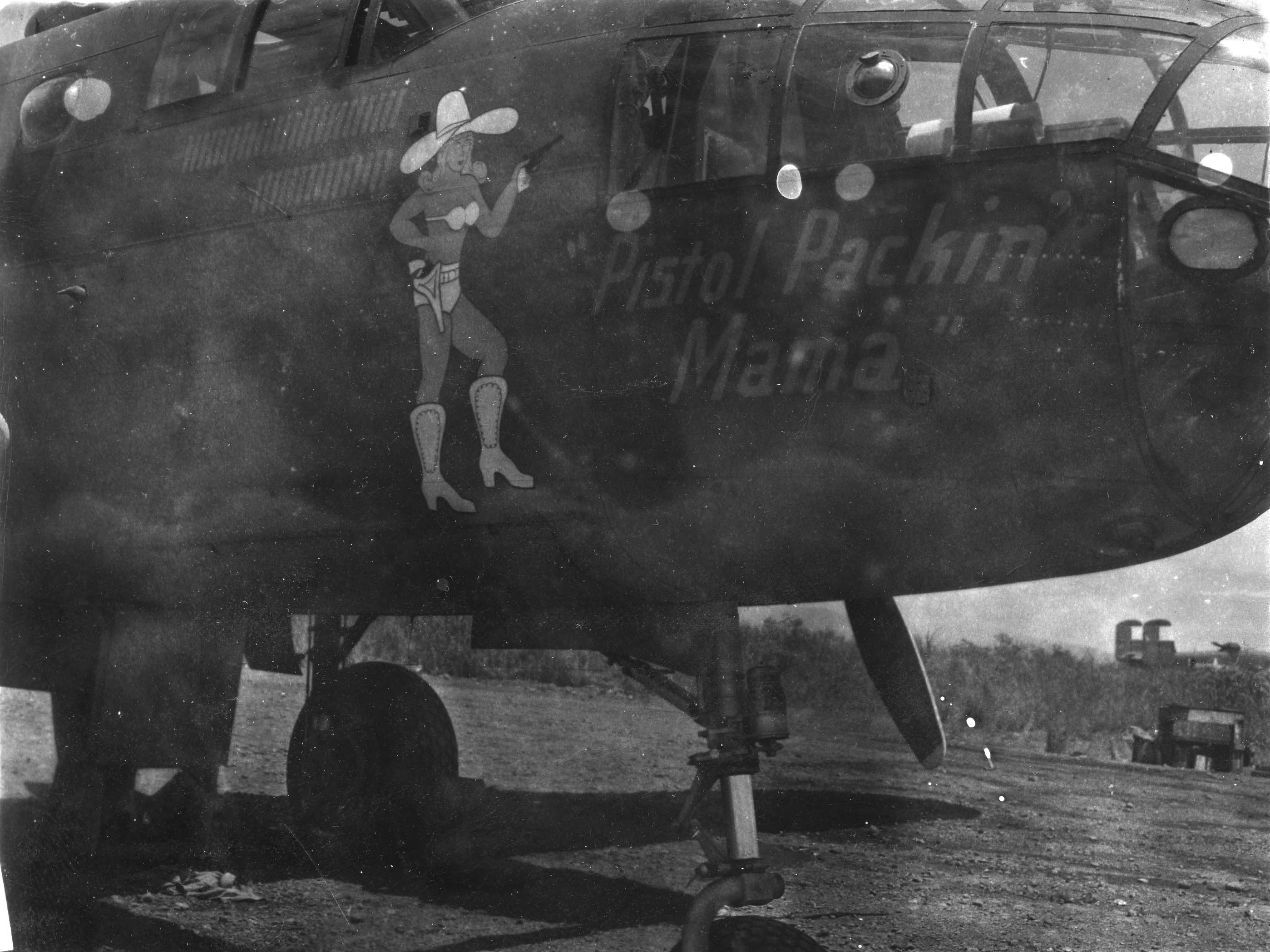 Pistol Packin Mama - B25 - 22nd Bomb Group - 2nd Squadron - Serial #41-30764 - Sharpe 26 (Thomas Sharpe Collection)