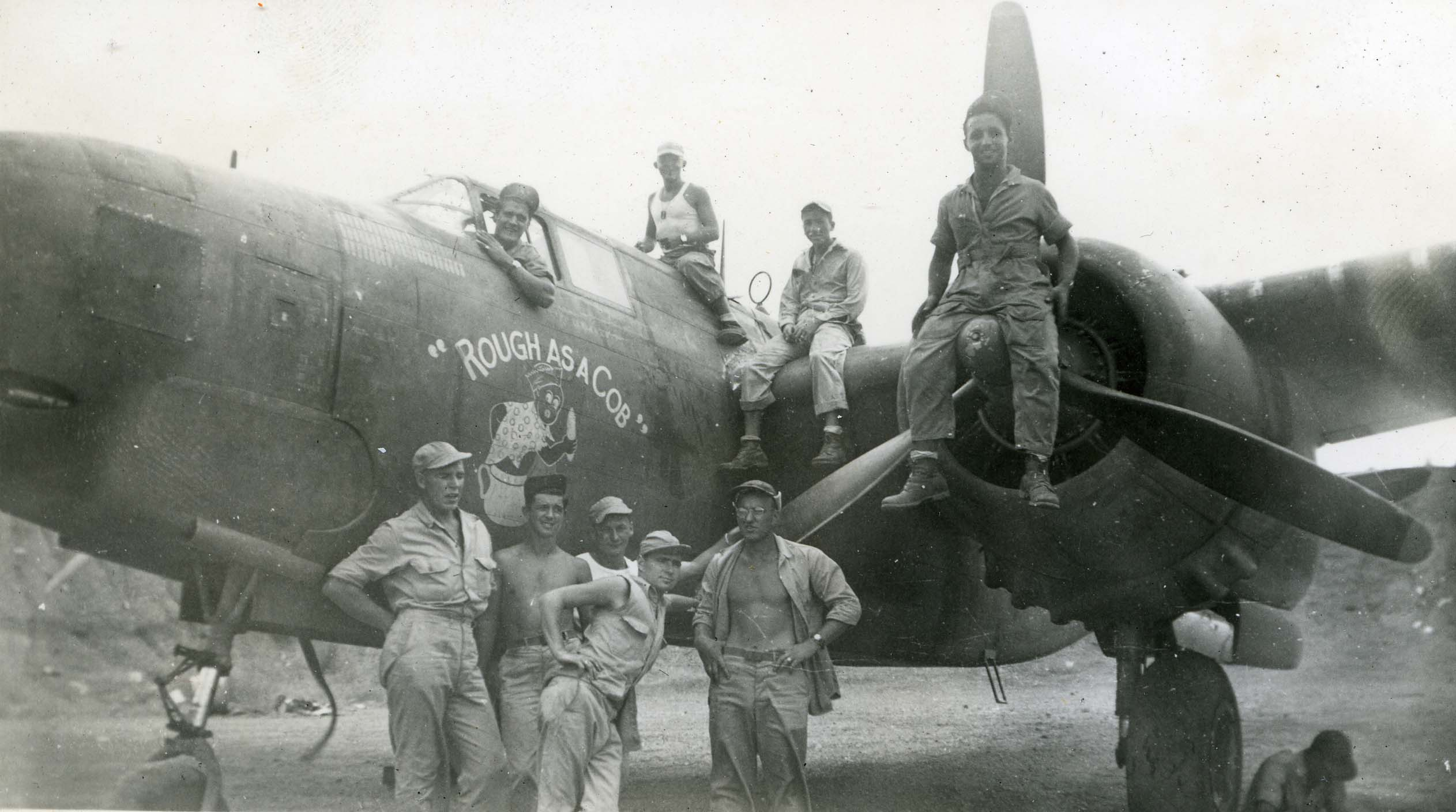 Rough as a Cob : A-20G-10 : 312th Bomb Group : 387th Squadron : Serial #42-54096 : Sharpe 35 (Thomas Sharpe Collection)