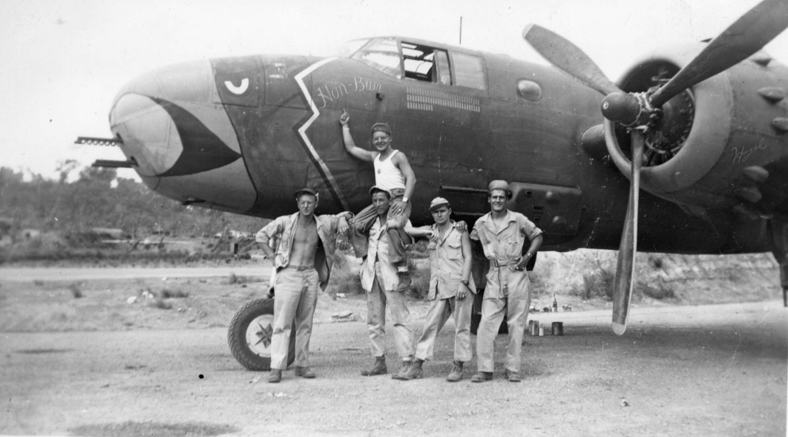 Hon-Bum : B-25 : Planes from Unknown Groups or Squadrons : Sharpe 37 (Thomas Sharpe Collection)